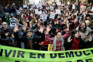 Manifestación en Madrid contra la Ley Mordaza, 2014 Copy: Adolfo Lujan