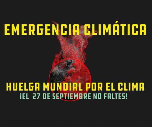 Cartel Huelga Mundial por el Clima. Web Greenpeace