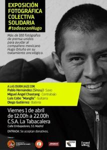 Cartel a favor de la exposición de Hugo Ortuño