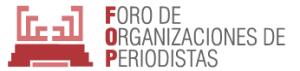 Logotipo del Foro de Organizaciones de Periodistas.