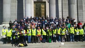 Protesta frente al Congreso de Los Diputados. Copy: No somos Delilto